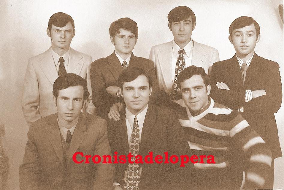 Algunos loperanos de la Quinta del año 1972. De izquierda a derecha: Marcos Ruiz, Pedro Pérez, Juan Madero, Enrique Herrador, Antonio Peña, Diego Merino y Francisco Muñoz.