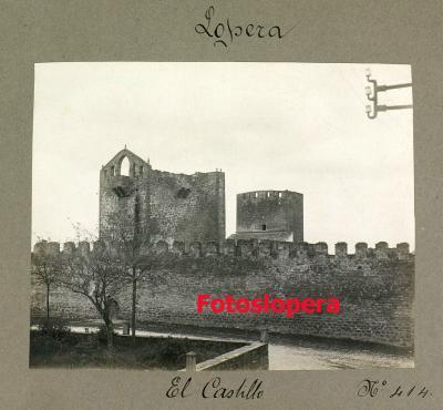 El Castillo de Lopera en el Catálogo de los Monumentos Históricos y Artísticos de la Provincia de Jaén realizado por Enrique Romero de Torres en 1913.