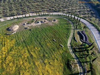Campo de Batalla para la I Recreación de la Batalla de Lopera de esta tarde a las 17 horas. Foto aérea de DRONVI Air Services.
