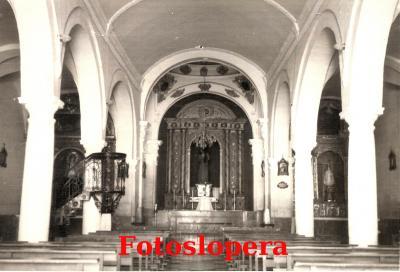 Interior de la Ermita de Jesús. Años 40