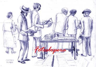 En esta tarde del final del mes de agosto que mejor que finalizarla con el placer de la lectura de la mano de un boceto de nuestro pintor de Lopera Paco Cantero.
