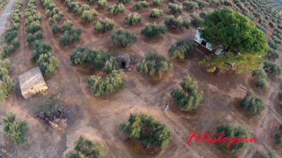 Vista aérea del Búnker y Nido de Ametralladoras junto a la antigua Nacional IV a través de una foto realizada con un drone por Rafael Quero Monje.