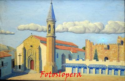 Paseo matinal por el pasado de calles y plazas de Lopera. Hoy por la Plaza Mayor de Lopera de la mano de un cuadro de nuestro pintor de Lopera Paco Cantero.