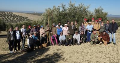 Recreación 1936 de la Recogida de la Aceituna por el Grupo Frente Andaluz y Battle Honours en un pago de olivar de Lopera organizada por la Asociación Cultural Batalla de Lopera