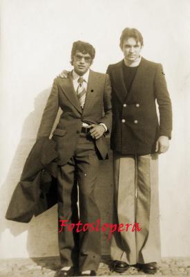 Los amigos Carlos Gutiérrez y José Caro. Año 1974